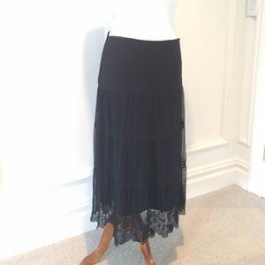 Elie Tahari black long skirt